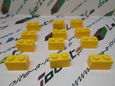lego lot de 12 x briques 1x2  brick jaune / yellow ref: 3004