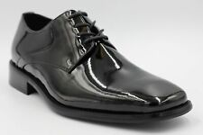 Zengara Men's Black Classic Dress Shoes Formal Oxford Fashion Laces Size 9.5