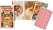 Piatnik Mucha Paintings and Illustrations Single Deck Austrian Playing Cards