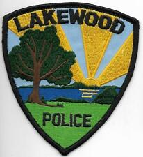 CALIFORNIA  Lakewood TOP  Police Patch Polizei Abzeichen USA  WOW Baum am Meer