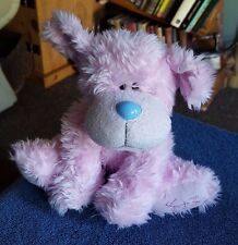 ME TO YOU BLUE NOSE PINK FLUFFY DOG TATTY TEDDY BEAR PLUSH STUFFED TOY 10""