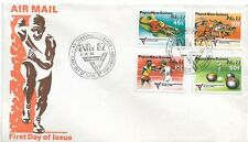 1982 FDC ANPEX & Commonwealth Games Set 4 FDI Post Moresby PNG 6 Oct 1982