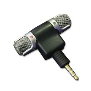 3.5mm Jack Mini External  Microphone Mic Stereo Recorder For Mobile Phone iPhone