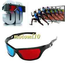 5x Fashion Cool 3D Glasses Red Blue For Dimensional Anaglyph Movie DVD Game Mo