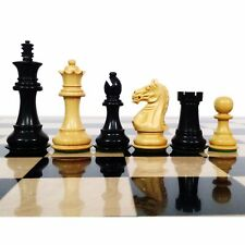 "Fierce Knight Staunton Chess Pieces set - Weighted Boxwood - 3.5"" Extra Queens"