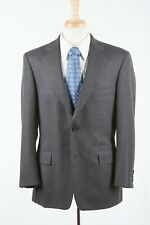 Mens ANDOVER SHOP Sport Coat 42 R in Charcoal Gray Wool Flannel Double Vented