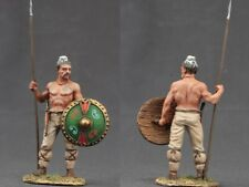Tin toy soldiers  painted 54 mm barbarian with a spear