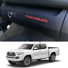 (2) Gloss Red Glovebox VINYL Dashboard Inserts 2016-2018 Toyota Tacoma New USA
