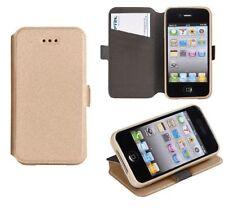 ^ 3 Book Case Flexi Hülle Etui Handy Tasche Samsung Galaxy J5 2015 J500 Gold