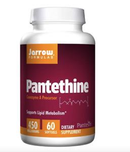 Jarrow Formulas Pantethine, 450mg x 60 Softgels, Blood Cholesterol Maintenance.
