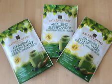 Natures Heart ALKALISING SUPERPOWDER. Wheatgrass Spirulina Matcha X3 Supergreens