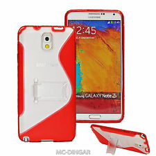 Red Ultra Slim Premium TPU Cover with Stand  Case For Samsung Galaxy Note 3