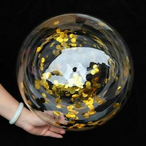 """Bubble Clear Transparent Bobo Confetti Balloons Party Wedding Birthday 18"""" Huge"""
