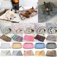 Pet Sleep Cushion Cat Dog Bed Blanket Mattress Kennel Warm Soft Large Puppy Mat