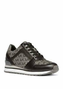 MICHAEL Michael Kors BILLIE Graphite Logo Trainer Lace Up Sneakers