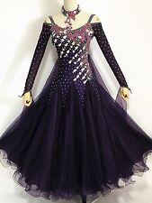 7274874b9e Ballroom Tango Smooth Competition Dance Dress Purple Waltz American Custom  made