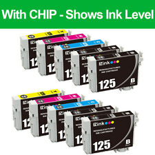 10PKs Remanufactured 125 Ink Cartridge For Epson Stylus NX125 NX127 NX130