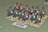 25mm napoleonic / french - chasseur a cheval 12 figures - cav (37633)