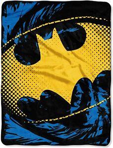 DC Comics Batman, Ripped Shield Micro Raschel Throw Blanket, 46 x 60 inches