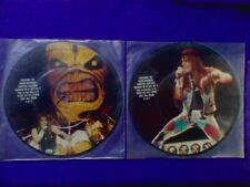"""Lot(2x) 1980s (Original) Iron Maiden (7""""inch) Picture Discs"""