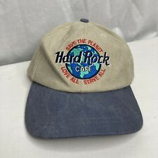 Vintage Hard Rock Cafe Taipei Taiwan Hat Cap Snapback Embroidered Closed Beige