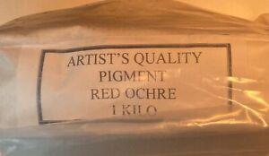 PIGMENT POWDER RED OCHRE 1 KILO UNOPENED NOS
