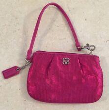 Coach Poppy Sweetheart Sequin Small Wristlet 4C w/ Hangtag Hang tag Bag Purse
