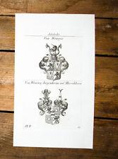 1826 Wappen Adelige Wenger von Wening-Ingenheim Hirschhorn Kupferstich Tyroff