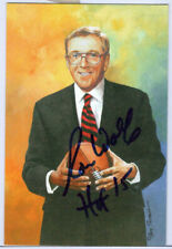 RON WOLF SIGNED GOAL LINE ART CARD HOF AUTOGRAPH PACKERS