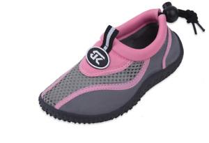 New Childrens Kids Boys Girls Slip On Water Shoes/Aqua Socks/Pool Beach,4 Colors