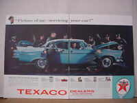 1957 Texaco Gas Service Station in all 48 States Huge Vintage Print Ad 10252