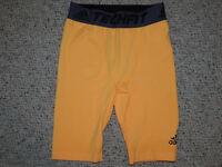 Adidas Boys Youth M Medium 10 12 Orange Tech Fit Compression Underwear Shorts