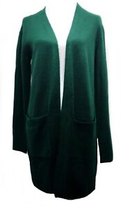 A New Day Cardigan Open-Front Cozy Knit  Women's Size Small Dark Green