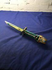 2002 Bandai Power Rangers Ninja Storm Green Samurai Sabre Sword Dagger Tested