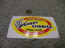 "Decals / Stickers Honest Charley Speed Shop large oval  5 1/2"" across  D6"