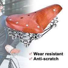 Universell Komfort Ledersattel Fahrradsattel Sattel Retro Fahrradsitz Hellbraun