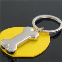 Cute Metal Silver Dog Bone Keychain Key Chain Ring Key Low Keyring Price N6L0