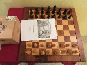 Vintage Allan Troy Chess Set-LARDY/DRUEKE set, Board, Box,&6monographs 3/4 4/30