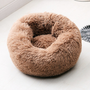 Comfy Calming Dog Cat Bed Pet Bed Round Super Soft Plush Fluffy Marshmallow S-XL