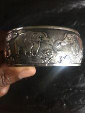 Tibetano Tíbet plata Brazalete Pulsera Brazalete De Elefante