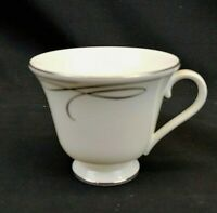 Waterford Fine Bone China Ballet Ribbon Tea Cup Platinum Rim