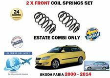 FOR SKODA FABIA 1.2 TSI 1.4 16V ESTATE COMBI 2000-2014 2x FRONT COIL SPRING SET
