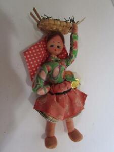 Vintage Maria Helena Mascotes Woman Fish Seller Portugal Cloth Doll