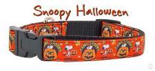 "Snoopy Halloween dog collar adjustable buckle collar 5/8"" wide or leash"