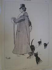 His New Fur coat 1894 old print man coat attracts cats my Ref R