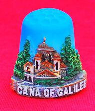 souvenir thimble sewing cana of galilee  israel