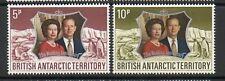 Dell' Antartico britannico 1972 Nozze d'argento serie MNH francobolli