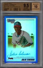2010 Bowman Chrome Julio Teheran Blue Ref Auto BGS 9.5