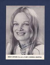 Indus Arthur signed vintage General Hospital TV show photo 1941-1984 Rare!