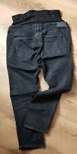 maternity black slim ankle DENIM over bump jeans size 38